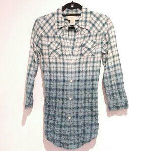 Elizabeth and james speckled paint shirt plaid